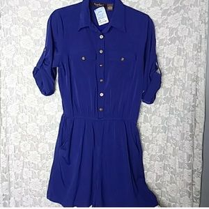 Speed Control Royal Blue Short Romper Sz Large